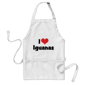 I Love Iguanas Adult Apron