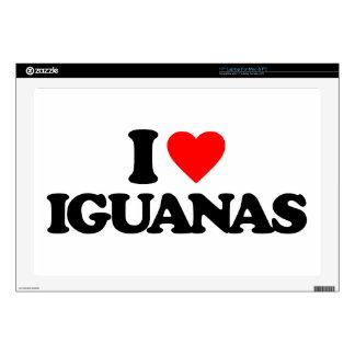 I LOVE IGUANAS SKIN FOR LAPTOP