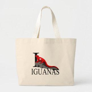 I Love Iguanas Tote Bags
