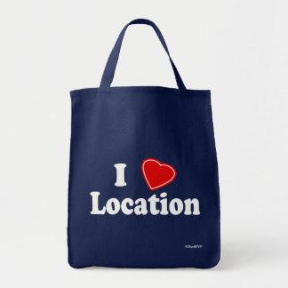 I Love II Grocery Tote Bag