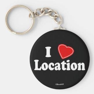 I Love II Keychain