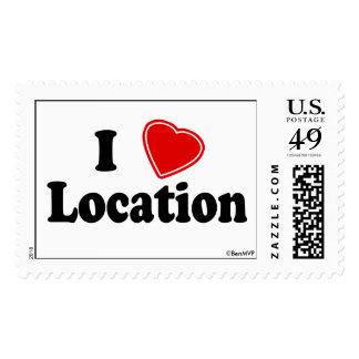 I Love II Postage Stamp