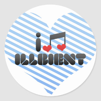 I Love Illbient Sticker