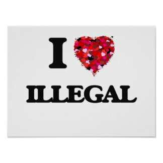 I Love Illegal Poster