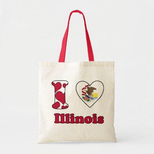 I love Illinois Canvas Tassen