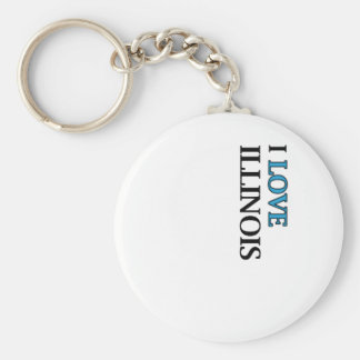 I Love Illinois Design Keychain