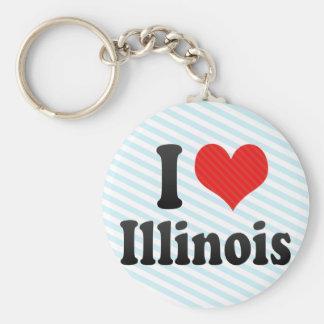 I Love  Illinois Key Chains