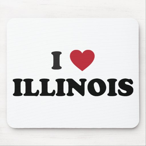 I Love Illinois Mouse Pads