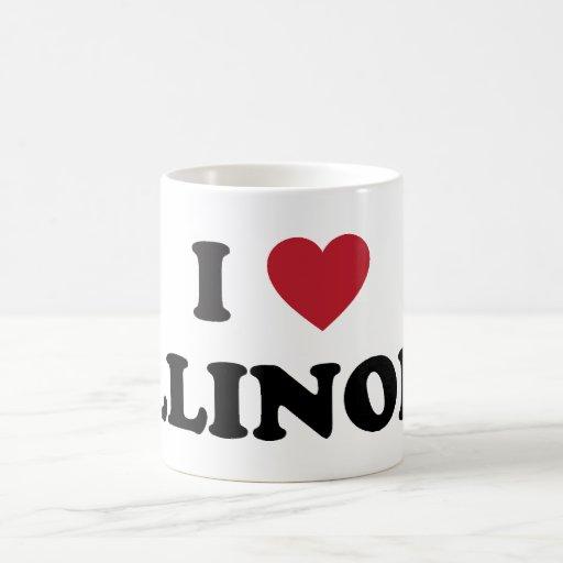 I Love Illinois Mugs
