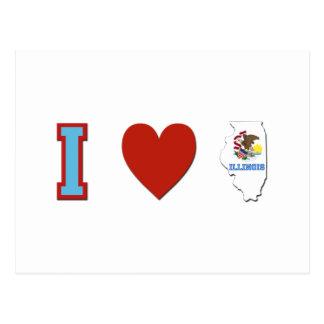 I Love Illinois Postcard