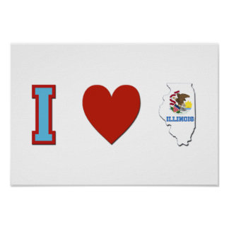 I Love Illinois Poster