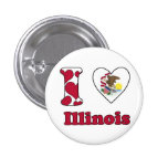 I love Illinois Speld Buttons