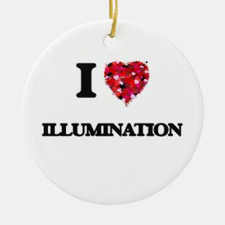 I Love Illumination Double-Sided Ceramic Round Christmas Ornament