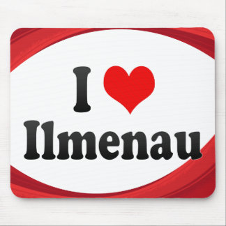 I Love Ilmenau, Germany Mouse Pad