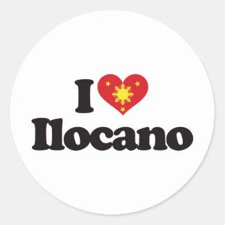 I Love Ilocano Classic Round Sticker
