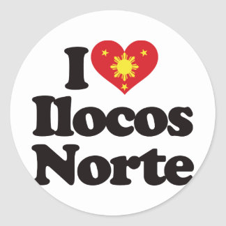I Love Ilocos Norte Classic Round Sticker