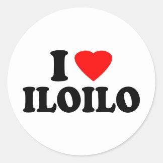 I Love Iloilo Round Sticker