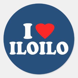 I Love Iloilo Round Stickers