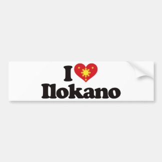 I Love Ilokano Bumper Sticker