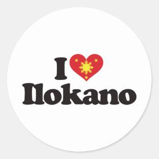 I Love Ilokano Classic Round Sticker