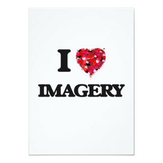 I Love Imagery 5x7 Paper Invitation Card