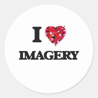I Love Imagery Classic Round Sticker