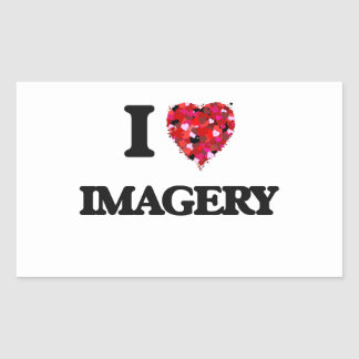 I Love Imagery Rectangular Sticker