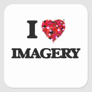 I Love Imagery Square Sticker