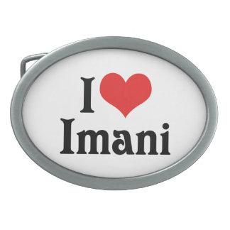 I Love Imani Oval Belt Buckle