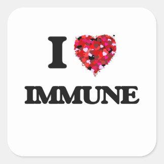 I Love Immune Square Sticker