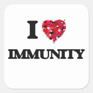 I Love Immunity Square Sticker