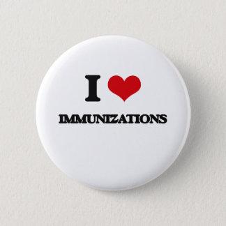 I Love Immunizations Button