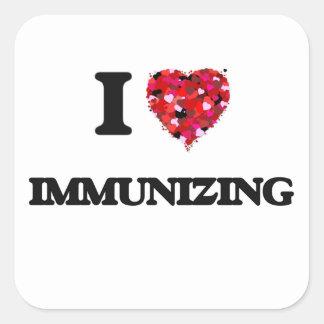 I Love Immunizing Square Sticker