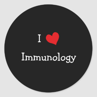 I Love Immunology Classic Round Sticker