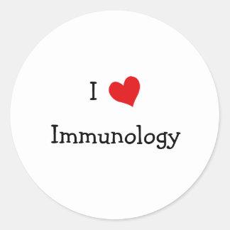 I Love Immunology Round Sticker
