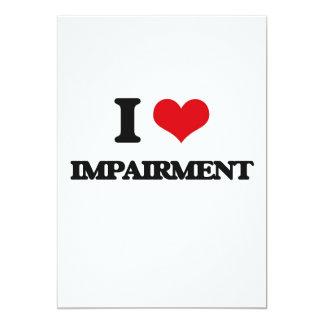 I Love Impairment 5x7 Paper Invitation Card