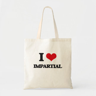 I Love Impartial Tote Bag