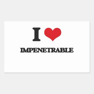 I Love Impenetrable Rectangle Sticker