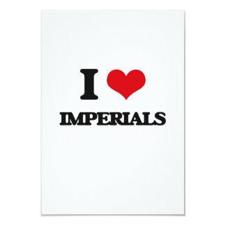 "I Love Imperials 3.5"" X 5"" Invitation Card"