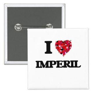 I Love Imperil 2 Inch Square Button
