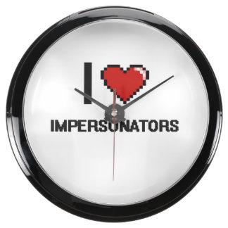 I love Impersonators Aquavista Clock