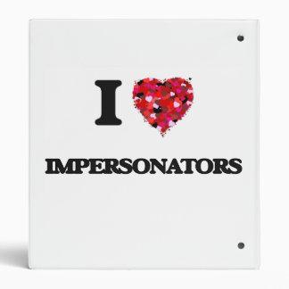 I love Impersonators Vinyl Binder