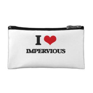 I Love Impervious Makeup Bag