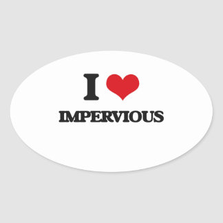 I Love Impervious Oval Sticker