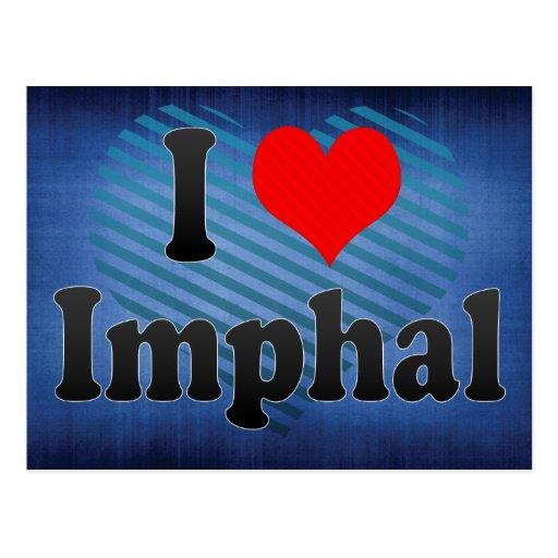 I Love Imphal, India. Mera Pyar Imphal, India Postcard