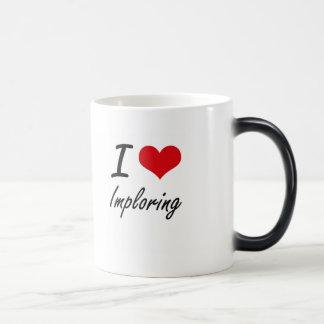 I Love Imploring 11 Oz Magic Heat Color-Changing Coffee Mug
