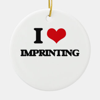 I Love Imprinting Double-Sided Ceramic Round Christmas Ornament