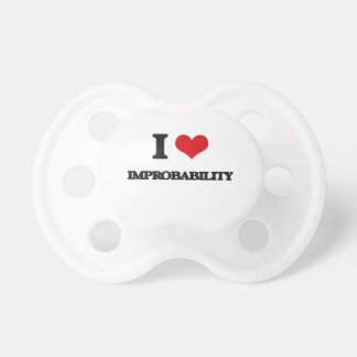 I Love Improbability BooginHead Pacifier