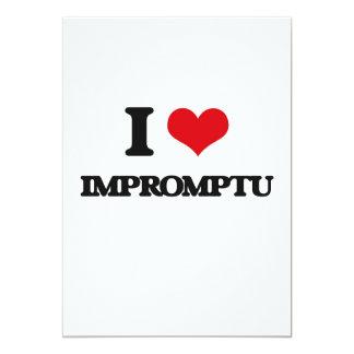I Love Impromptu 5x7 Paper Invitation Card