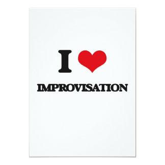 I Love Improvisation 5x7 Paper Invitation Card